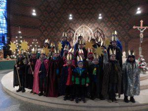 Gruppenfoto in der Kirche St. Laurentius