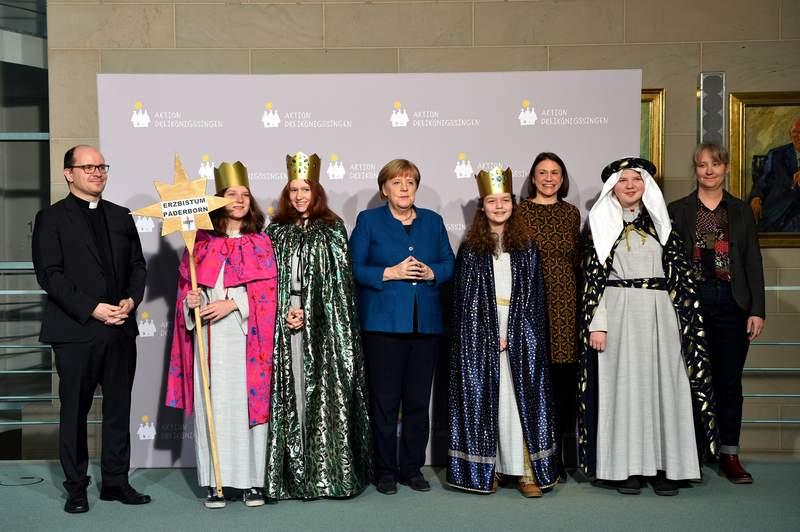 Gruppenfoto im Kanzleramt