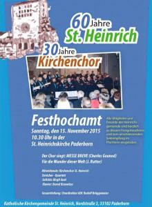 Plakat 60 Jahre St. Heinrich - 30 Jahre Kirchenchor (15.11.2015)