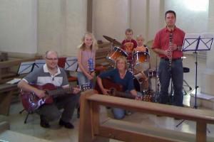 Band bei den Familiengottesdiensten St. Georg