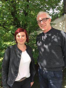 Gemeindereferentin Alexandra Boxberger mit Pfarrer Thomas Stolz