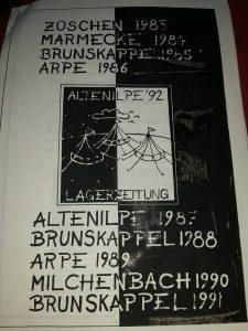 Titelseite der Lagerzeitung 1992