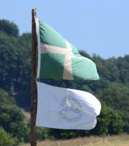 Fahne des Ferienlagers in Langenholthausen 2013