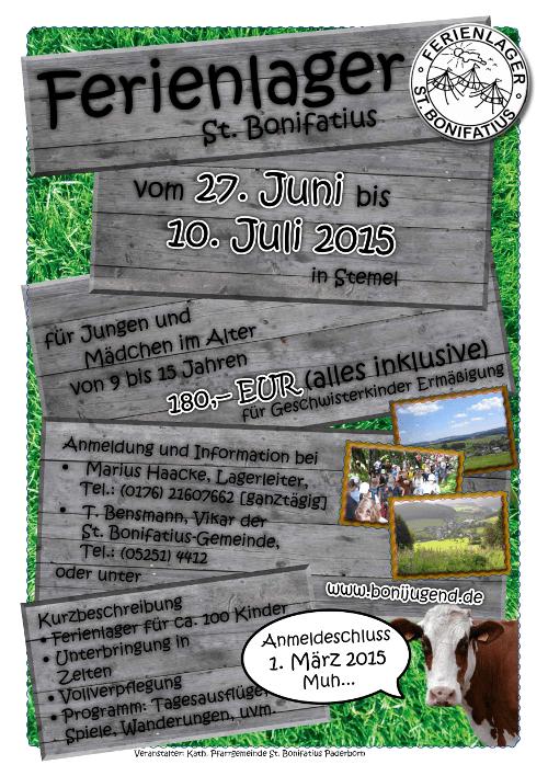 Ferienlager St. Bonifatius 2015