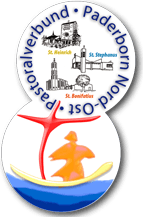 Nicht mehr aktuell: die zusammengefügten Logos der aufgelösten Pastoralverbünde Paderborn Nord-Ost und West