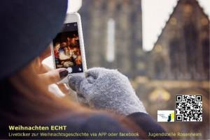 Mit der App der Jugendstelle Rosenheim kommt die Weihnachtsgeschichte direkt auf Ihr Smartphone!