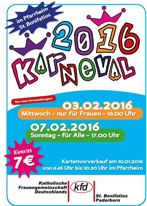 karneval-st-bonifatius-2016-plakat