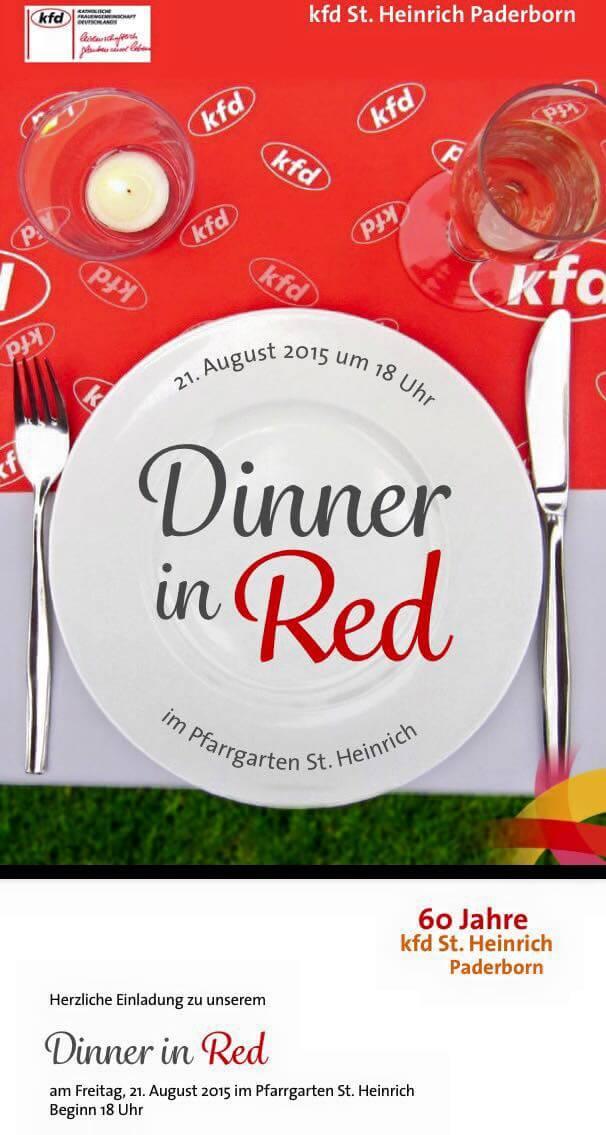 Dinner in Red mit der kfd St. Heinrich am 21.08.2015