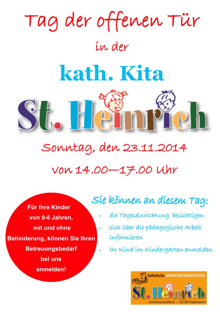 Tag offenen tür  Tag der offenen Tür in der Kita St. Heinrich am 23.11.2014