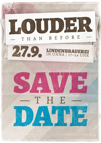 Plakat zum Musikfestival louder than before am 27. September 2014