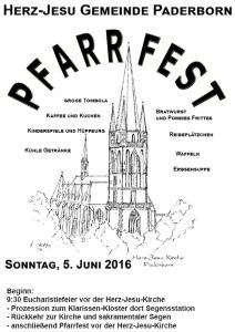 Pfarrfest Herz Jesu, 05.06.2016