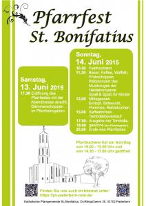 Pfarrfest St. Bonifatius 2015 - Plakat
