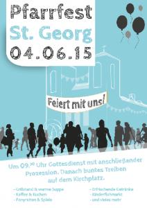 Plakat Pfarrfest St. Georg 2015
