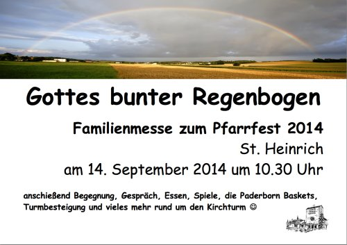 Familienmesse an Pfarrfest St. Heinrich am 14.09.2014