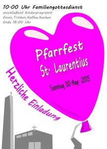 Herzliche EInladung zum Pfarrfest ST. LAURENTIUS