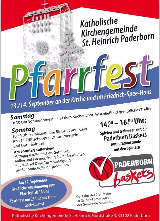 Programm Pfarrfest St. Heinrich 2014