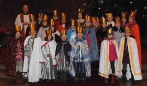 Gruppenfoto der Sternsinger in St. Bonifatius 2013